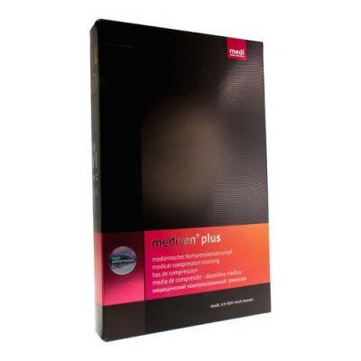 Mediven Plus Kniekous zonder teen ccl2 zwart V 2 stuks