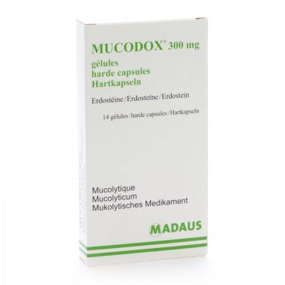 Mucodox 300mg Capsules 14 pièces