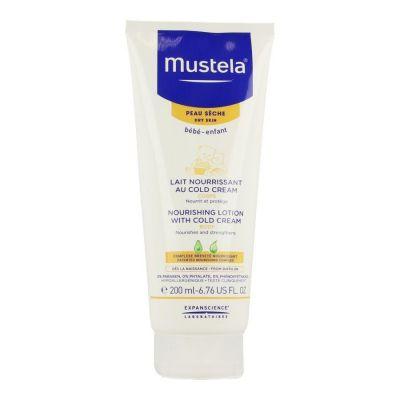 Mustela Bébé-Enfant Pflegemilch Cold Creme für die trockene Haut Körpermilch 200ml