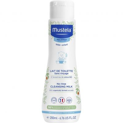 Mustela Bébé-Enfant Toiletmelk zonder spoelen Toiletmelk 200ml