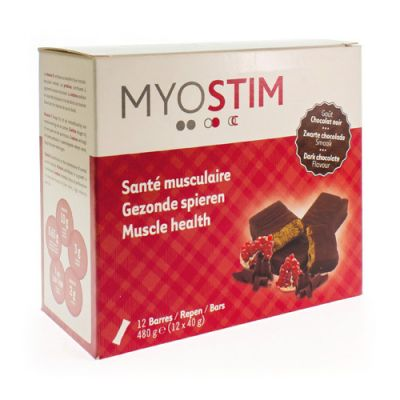 Myostim Zwarte chocolade Reep 12 stuks