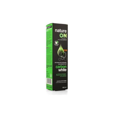 Nature on carbon Witte tanden Tandpasta 100ml