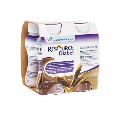 Nestlé Resource Diabet café Boisson 4x200ml