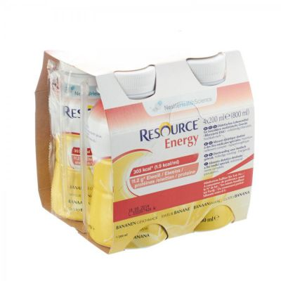 Nestlé Resource Energy boisson banane Boisson 4x200ml