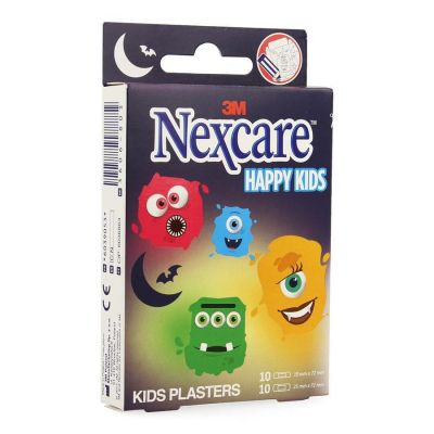 Nexcare Happy kids Monster 20 stuks