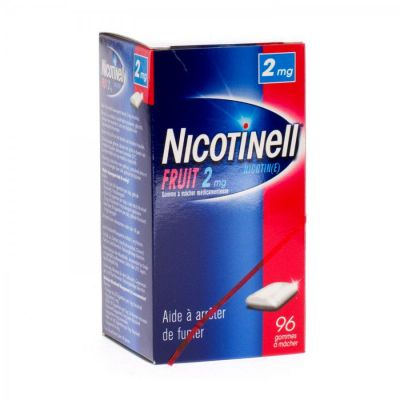 Nicotinell Fruit 2mg  Chewing-gum 96 pièces