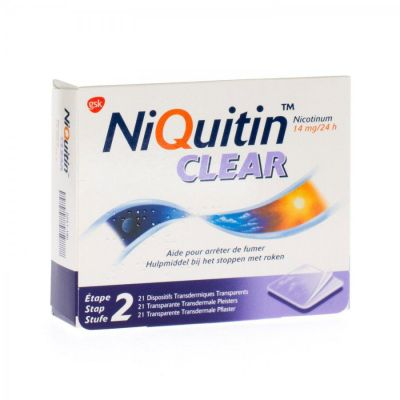 Niquitin Clear Patch 14mg Patch 21 Stück