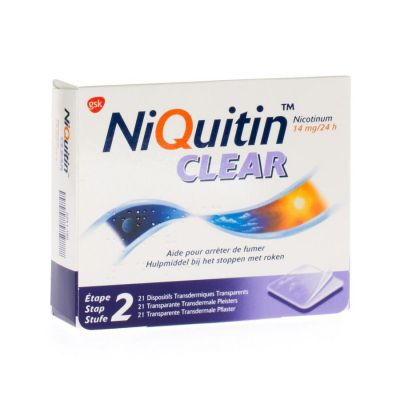 Niquitin Clear Patch 14mg Patches 21 pièces