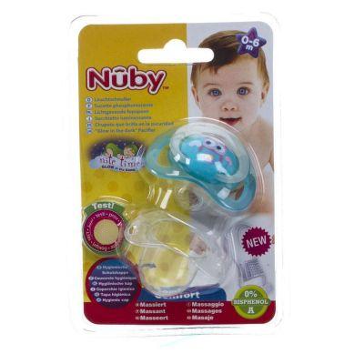 Nûby Nite Time orthodontische fopspeen 0-6 maanden 1 stuks