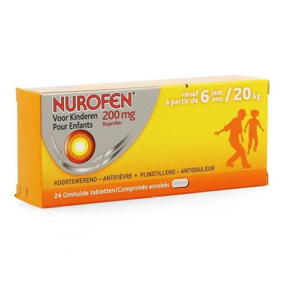 Nurofen Kind 200mg  Tabletten 24 stuks