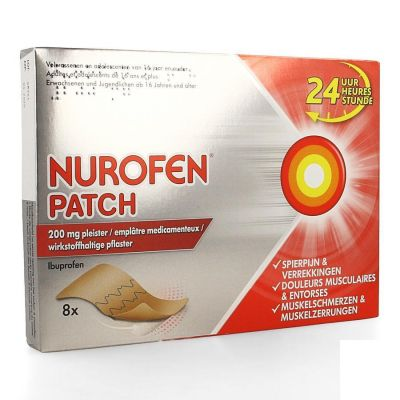 Nurofen Patch 200mg Patches 8 stuks