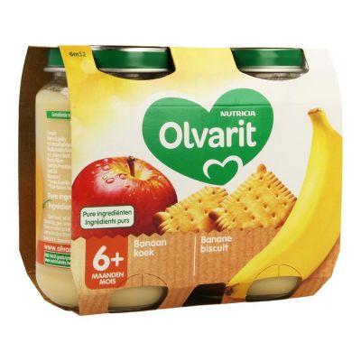 Olvarit Apfel-Banane-Kuchen +6M 2x200gr