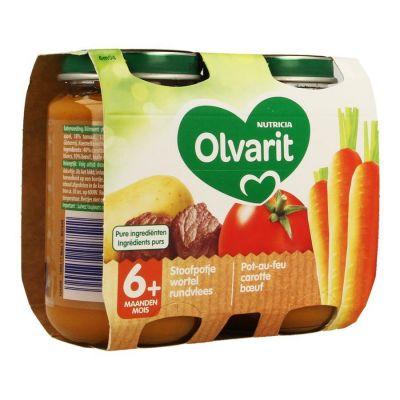 Olvarit Schmortopf Karotte-Rindfleisch +6M 2x200gr