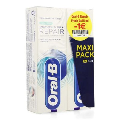 Oral-B Repair Tandvlees & Tandglazuur Extra Fris Promo Tandpasta 2x75ml