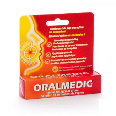 Oralmedic aphtes applicateur Stick 3 pièces