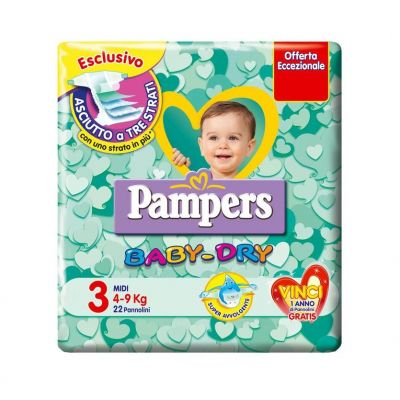 Pampers Baby Dry Down Midi 20 pezzi