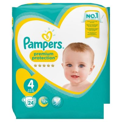 PAMPERS PREMIUM PROTECT CARRY S4 24 pièces