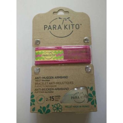 Parakito Anti-Muggen Armband Graffic Groot Model roos Armband 1 stuks