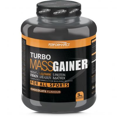 Performance Turbo Mass gainer NB chocolade Poeder 3000g
