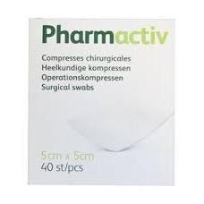 Pharmactiv Compresas estériles de 5x5cm 40 unidades
