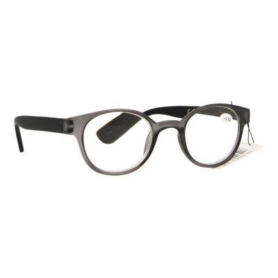 Pharmaglas Grijs zwarte ronde leesbril +3,50 1 stuks