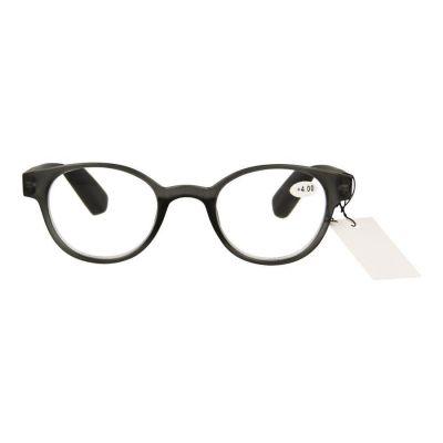 Pharmaglas Grijs zwarte ronde leesbril +4,00 1 stuks