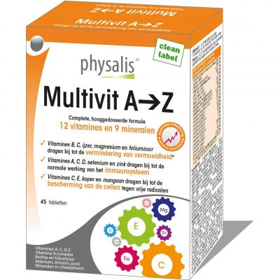 Physalis Multivit A-Z  Tabletten 45 stuks