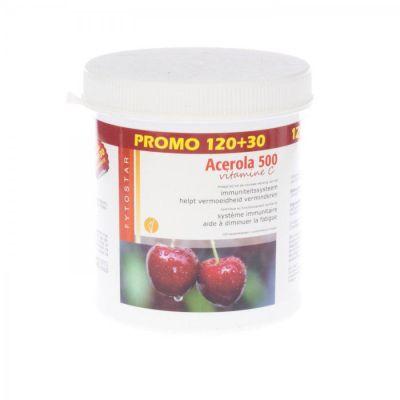 Phytostar Acerola 500 Vitamin C Promopackung  Kautabletten 120+30 Stück