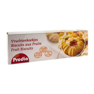 Prodia biscuits aux fruits + édulcorant Biscuits 125g