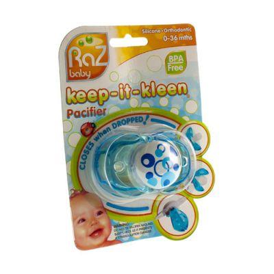 Raz baby keep-it-kleen pacifier sucette bleue 1 pièces