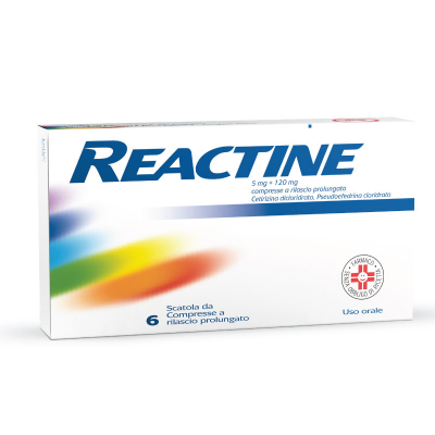 Reactine 5mg + 120mg  Compresse 6 pezzi