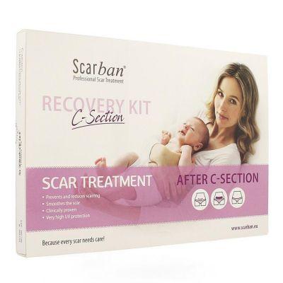 Scarban Elastic C-section Sparadrap en silicone 1 pièces
