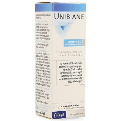 UNIBIANE VITAMINE B12 PILEJE Spray buccal 20ml