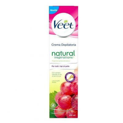 Veet Natural Ispirations Depilatoria Olio Semi D'Uva  Crema 200ml