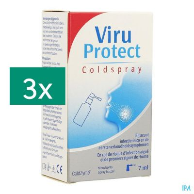 ViruProtect Coldspray promopack Spray pour la gorge 3x7ml