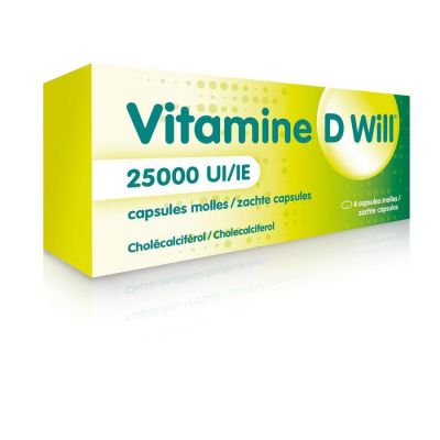 Vitamine D Will 25.000IE Softgel 4 stuks