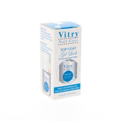 Vitry Top Coat Gel Look Ongles 10ml Vernis à ongles 10ml