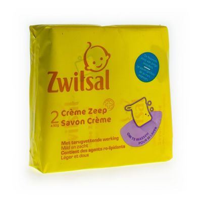 Zwitsal Crème zeep Wastablet 2x90g