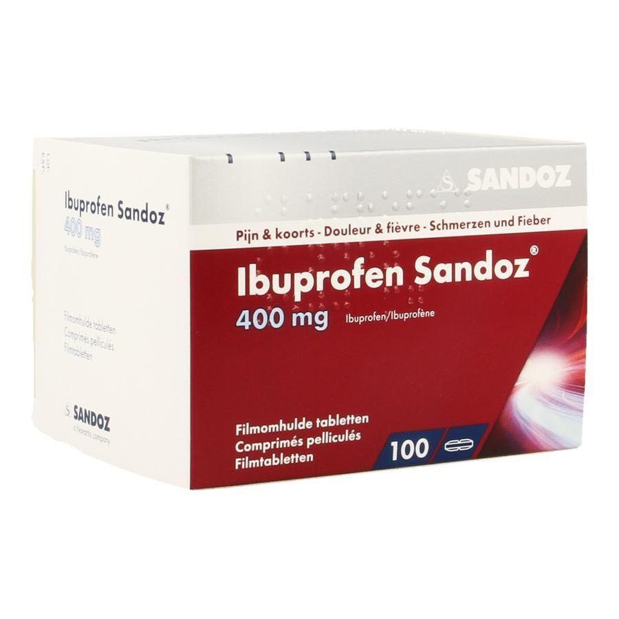 acheter ibuprofen sandoz 400mg comprim s 100 pi ces. Black Bedroom Furniture Sets. Home Design Ideas