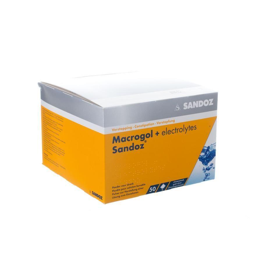 Macrogol + elektrolyten Sandoz citroen Zakjes 50 stuks ...  Macrogol