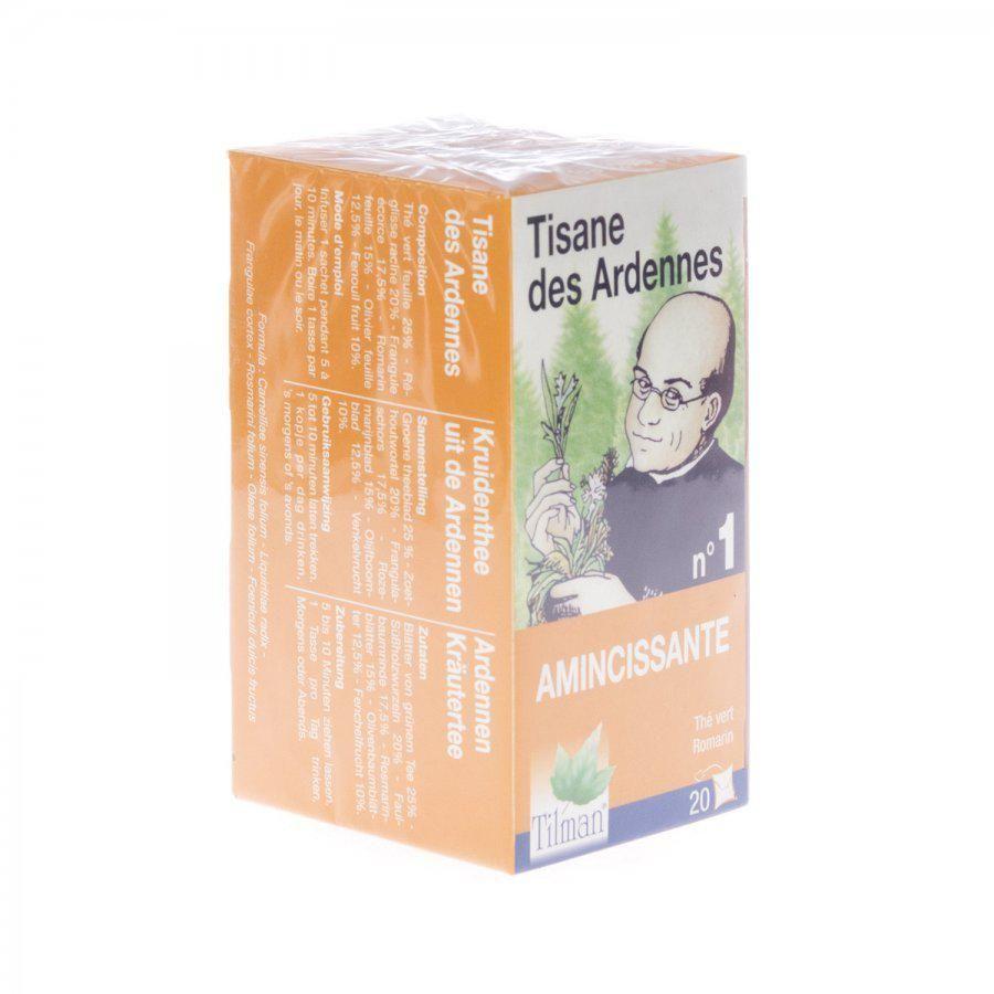 Acheter tisane ardennaise amincissante infusettes 20 for Tisane amincissante
