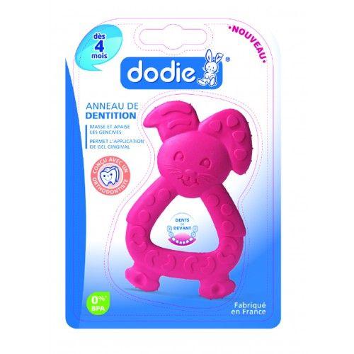Image of Dodie anneau de dentition lapin rose