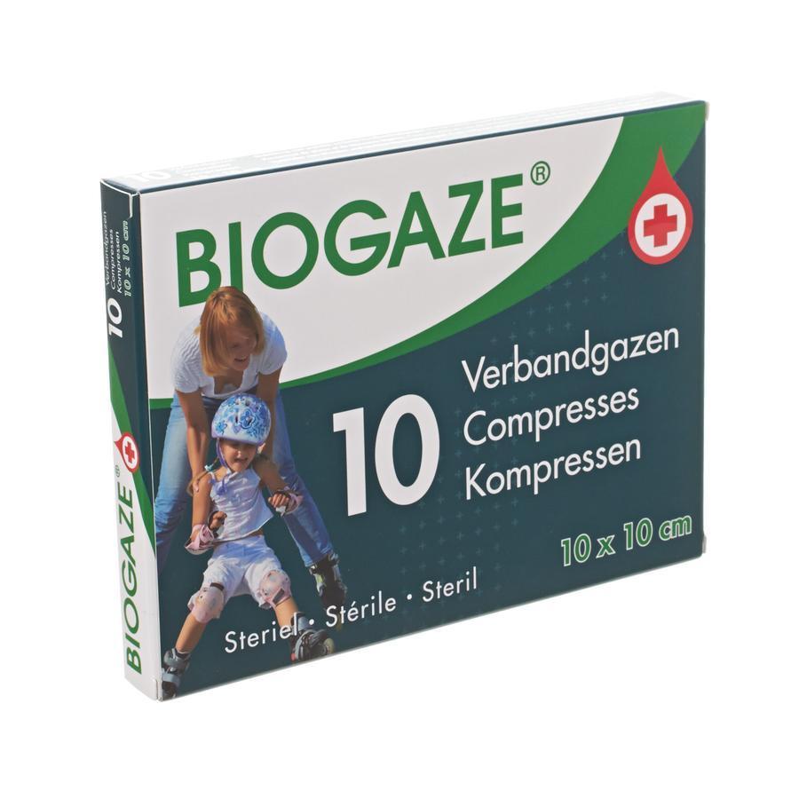 Biogaze Verbandgazen Steriel 10x10cm 10st