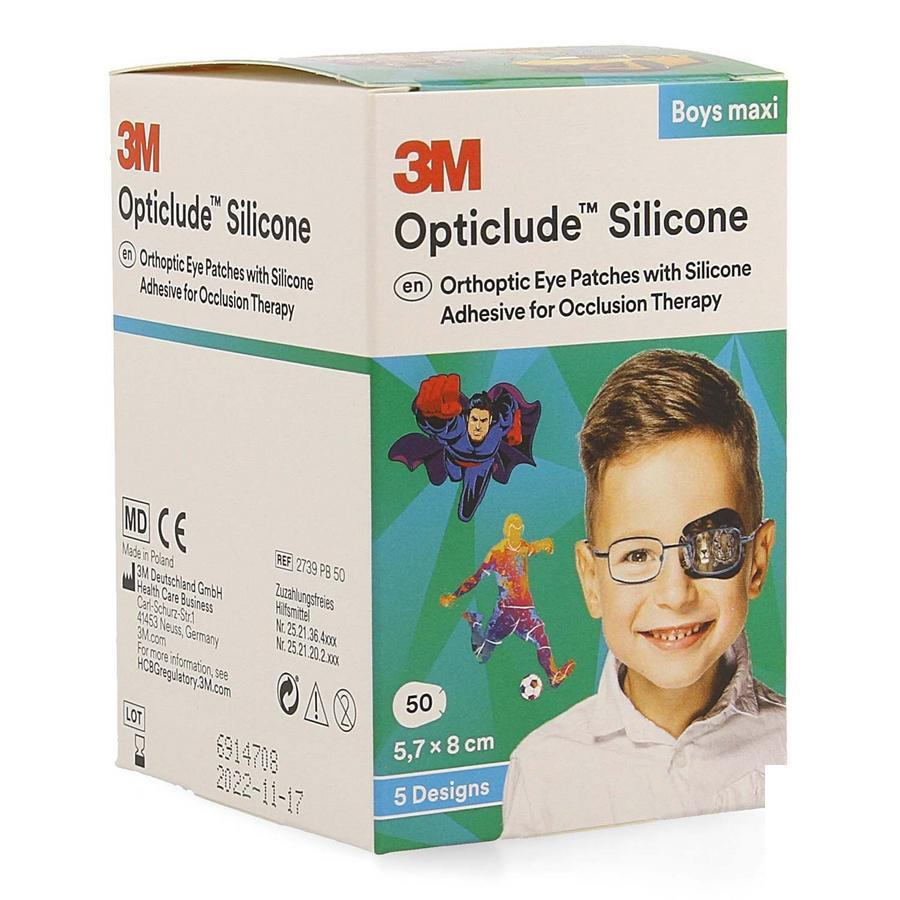 Image of Opticlude Silicone Boys Maxi oogpleisters 5,7x 8,0cm