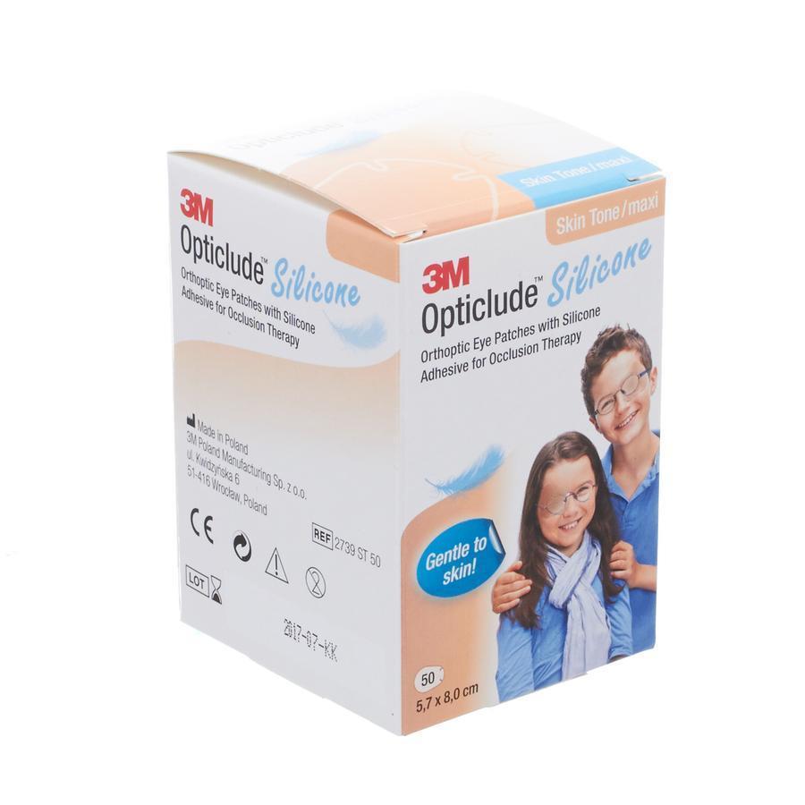 3M Opticlude Silicone Oogpleister Skin Tone Maxi Uniseks 50 Stuks