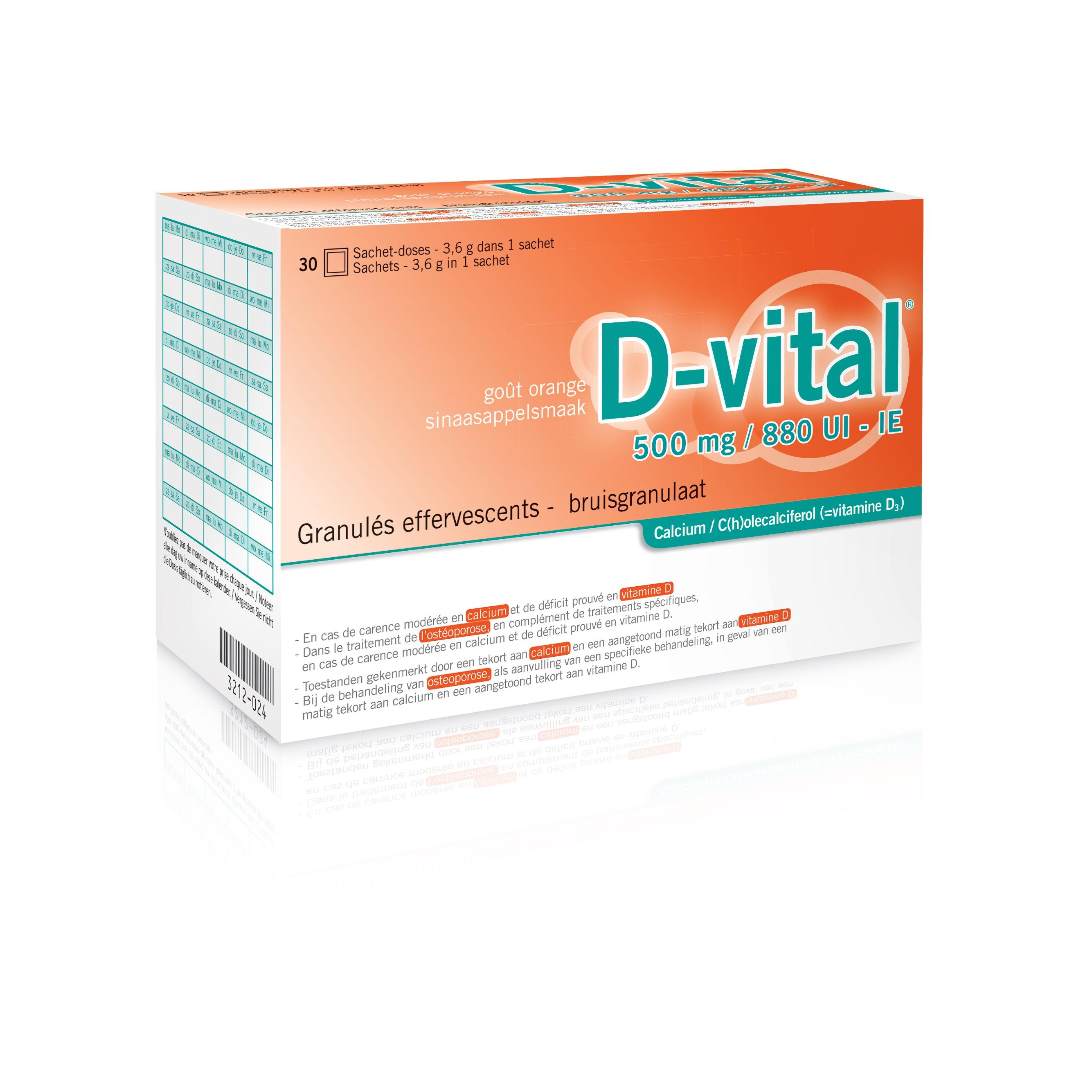 D-Vital sinaas 500/880 calcium
