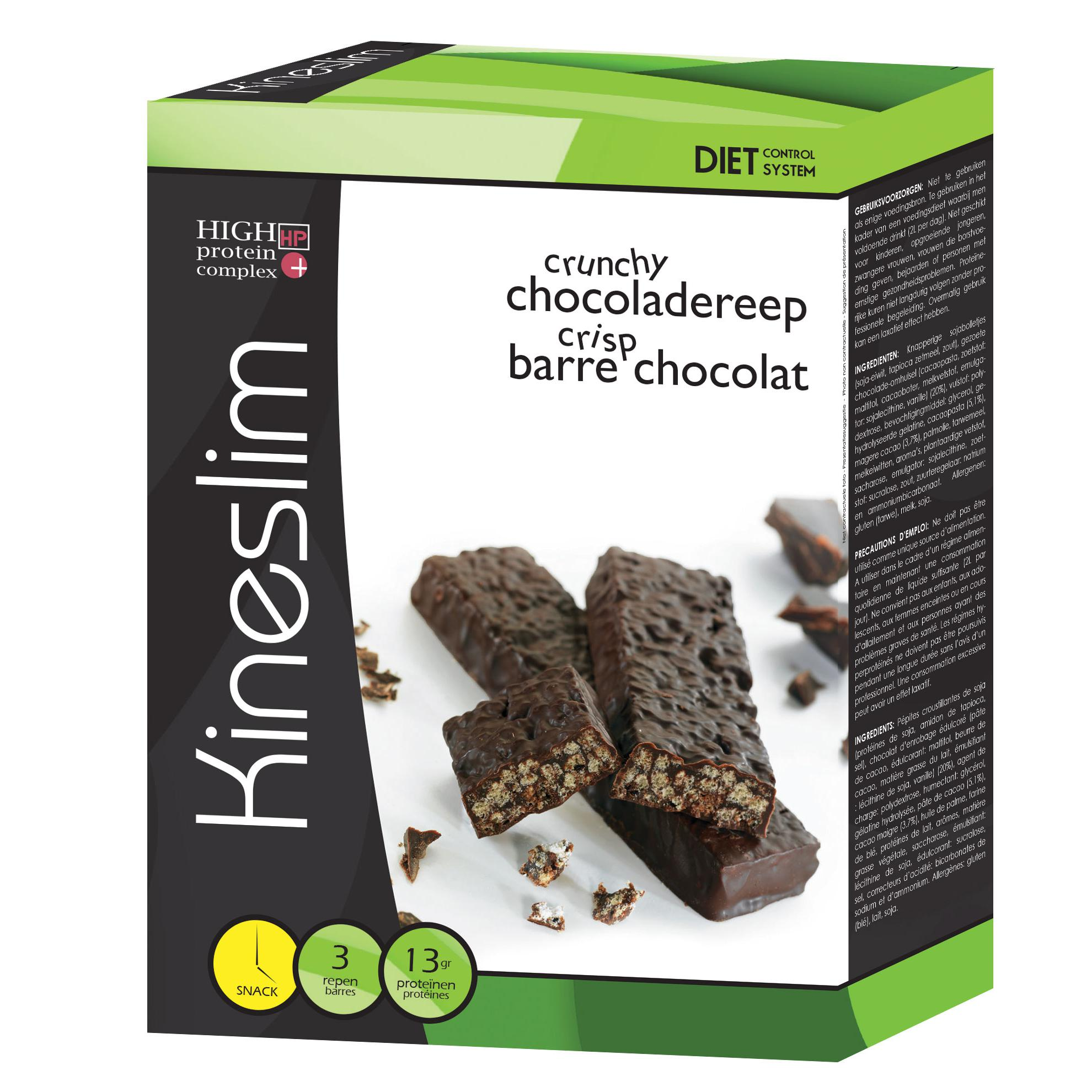 Image of Kineslim barres crisp chocolat