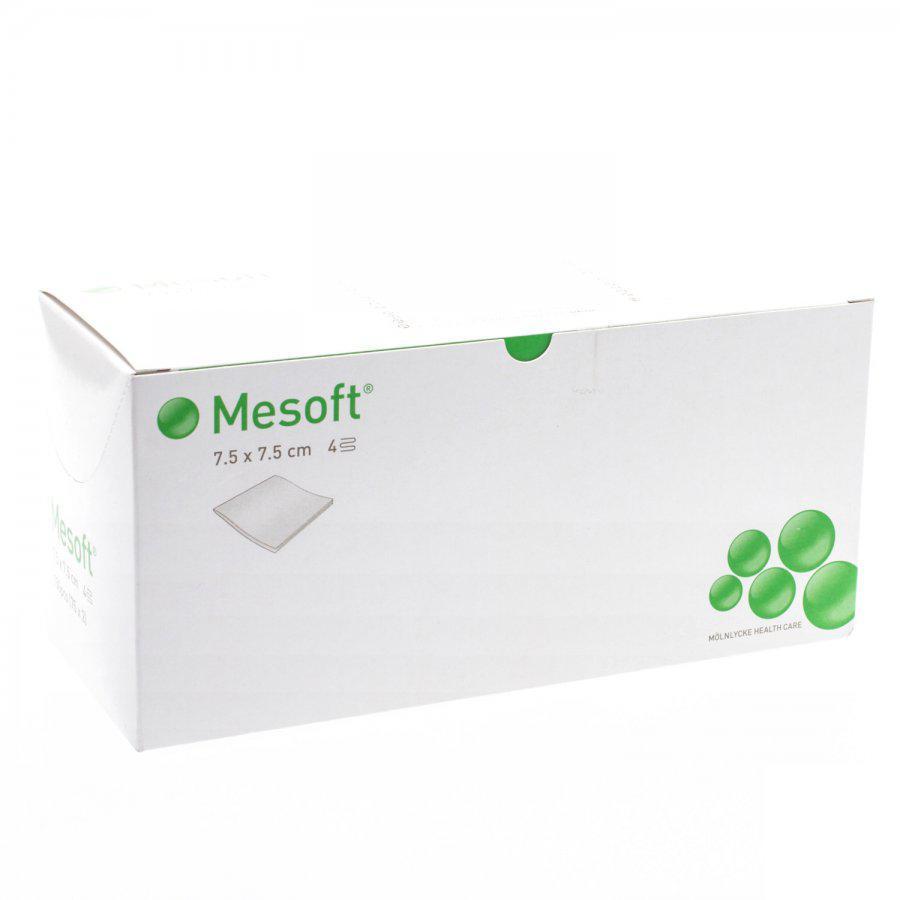 Image of Mesoft kompressen steriel 7,5x7,5cm (40g/m²)