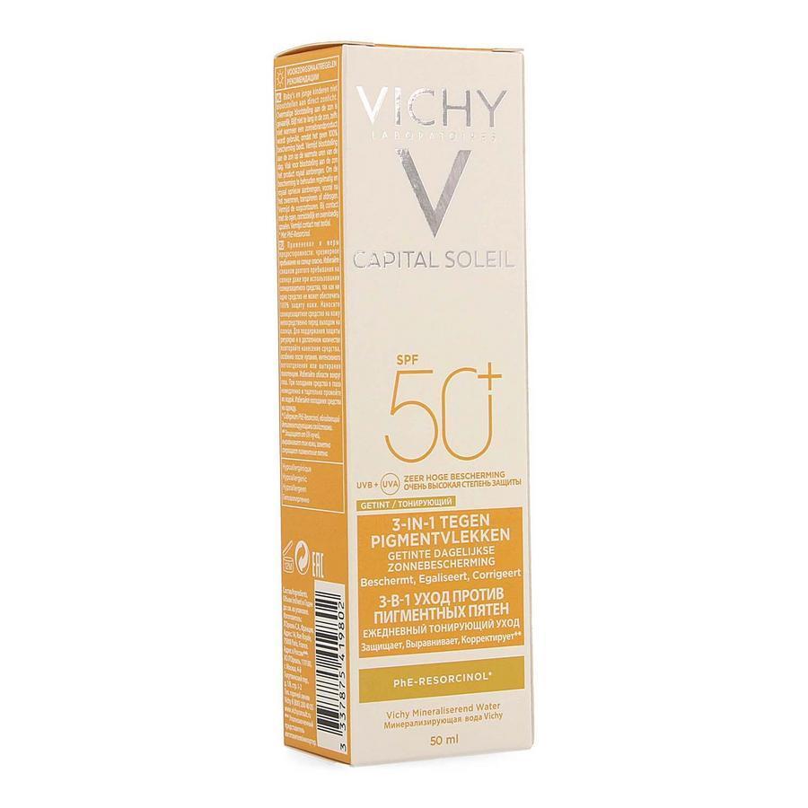 Image of Vichy Capital Soleil 3 in 1 getint anti-vlekjes SPF50