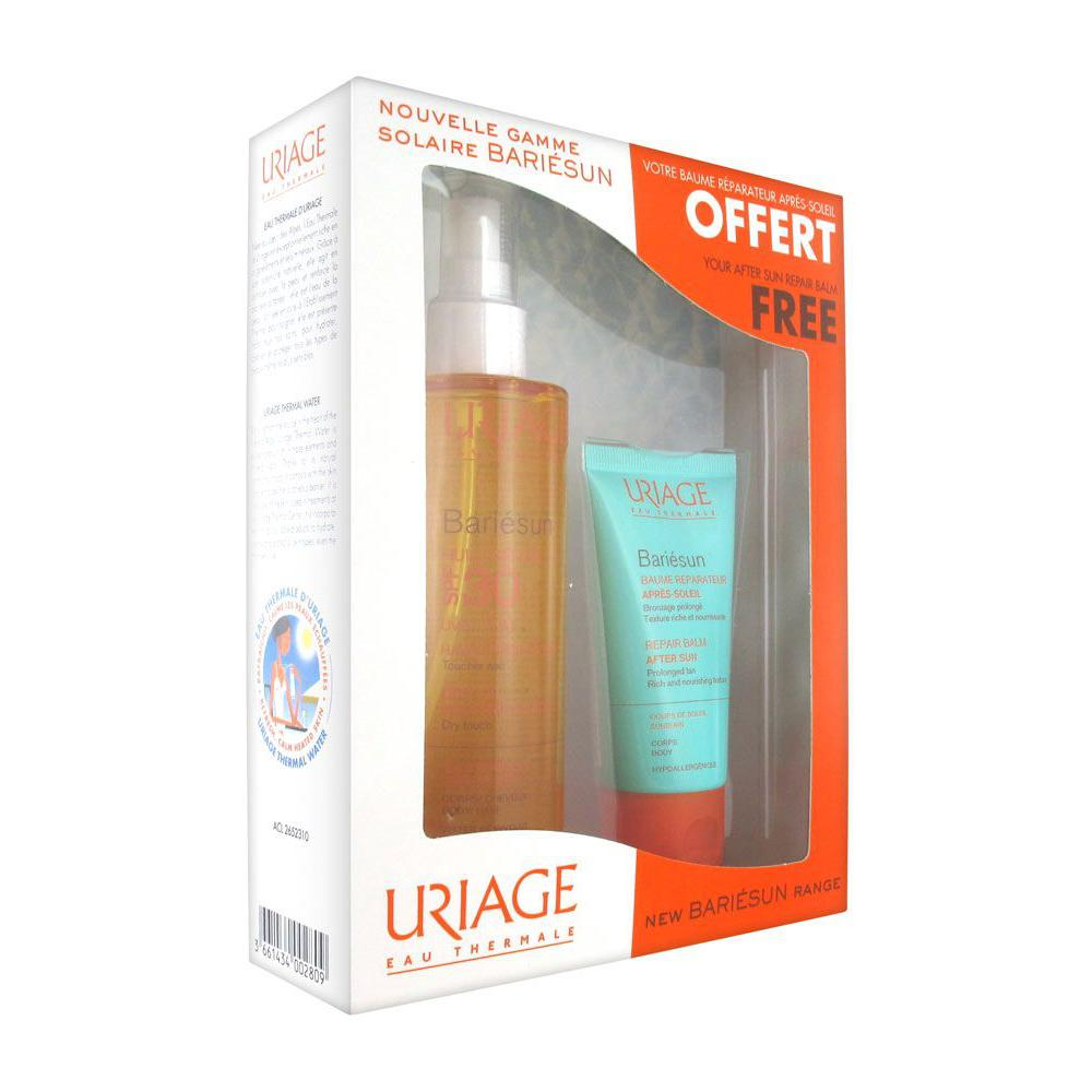 Image of Uriage Bariésun Droge olie SPF30 + Aftersun pakket